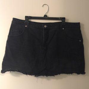 Dresses & Skirts - Wild Fable Target Black jean skirt **PLUS SIZE